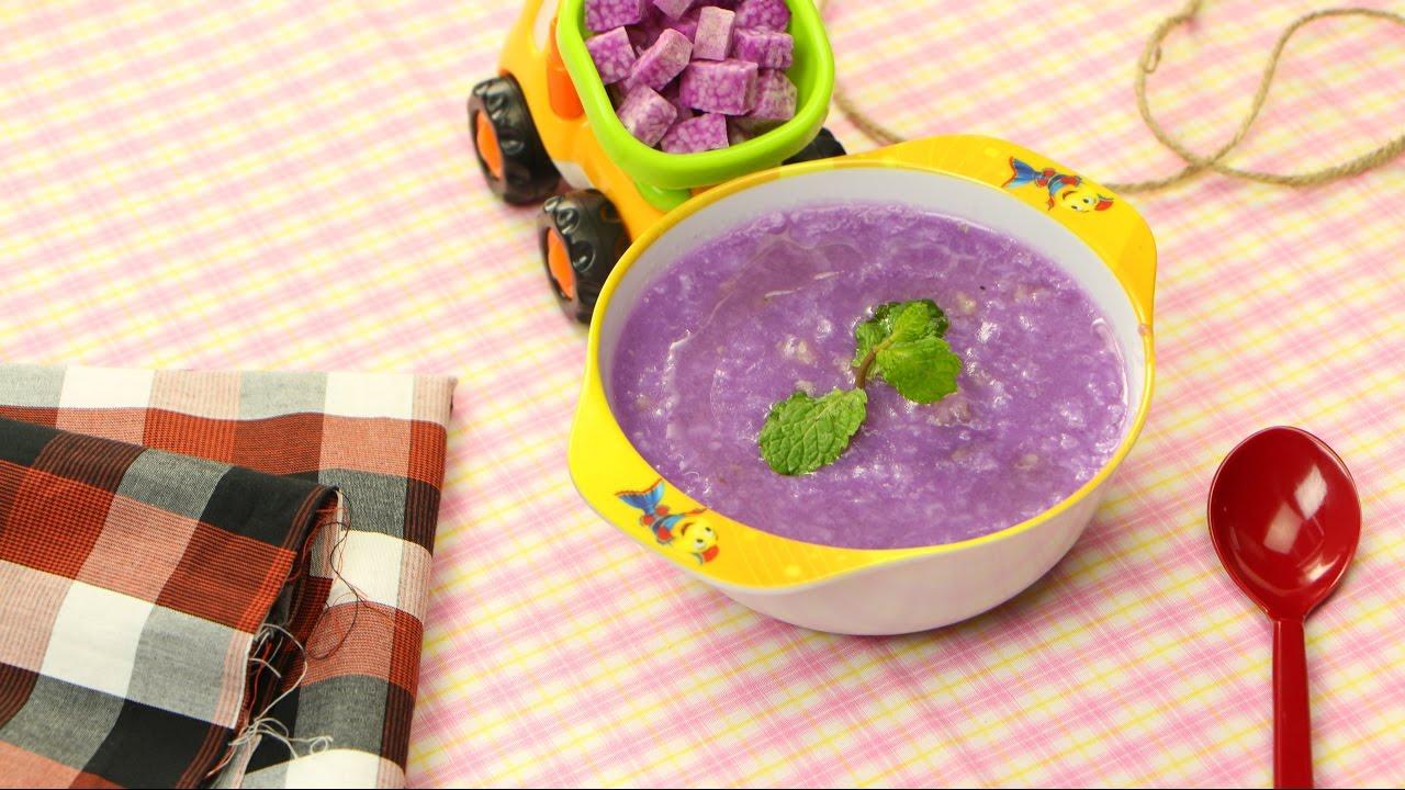Bột tôm khoai mỡ là một trong các món ăn dặm cho trẻ 6 - 7 tháng tuổi